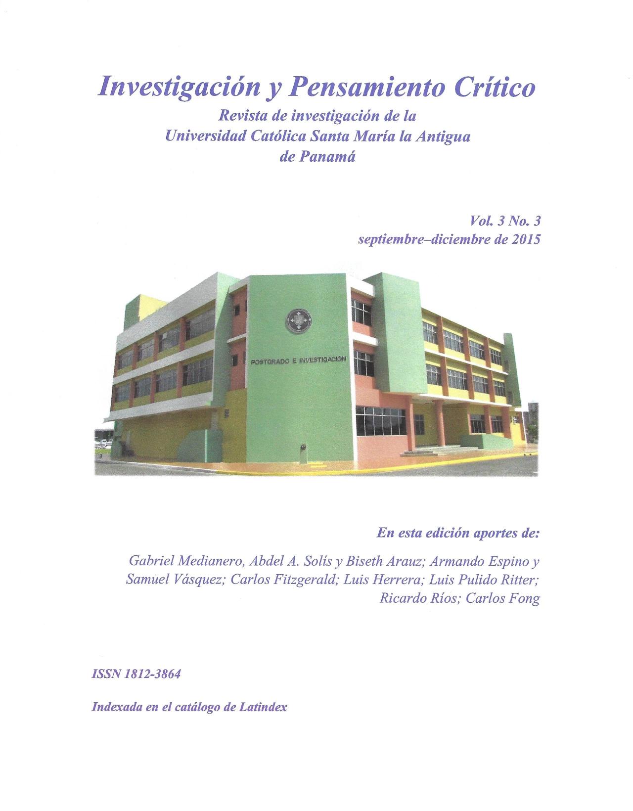 Imagen revista IPC, volumen 3, número 3, año 2015