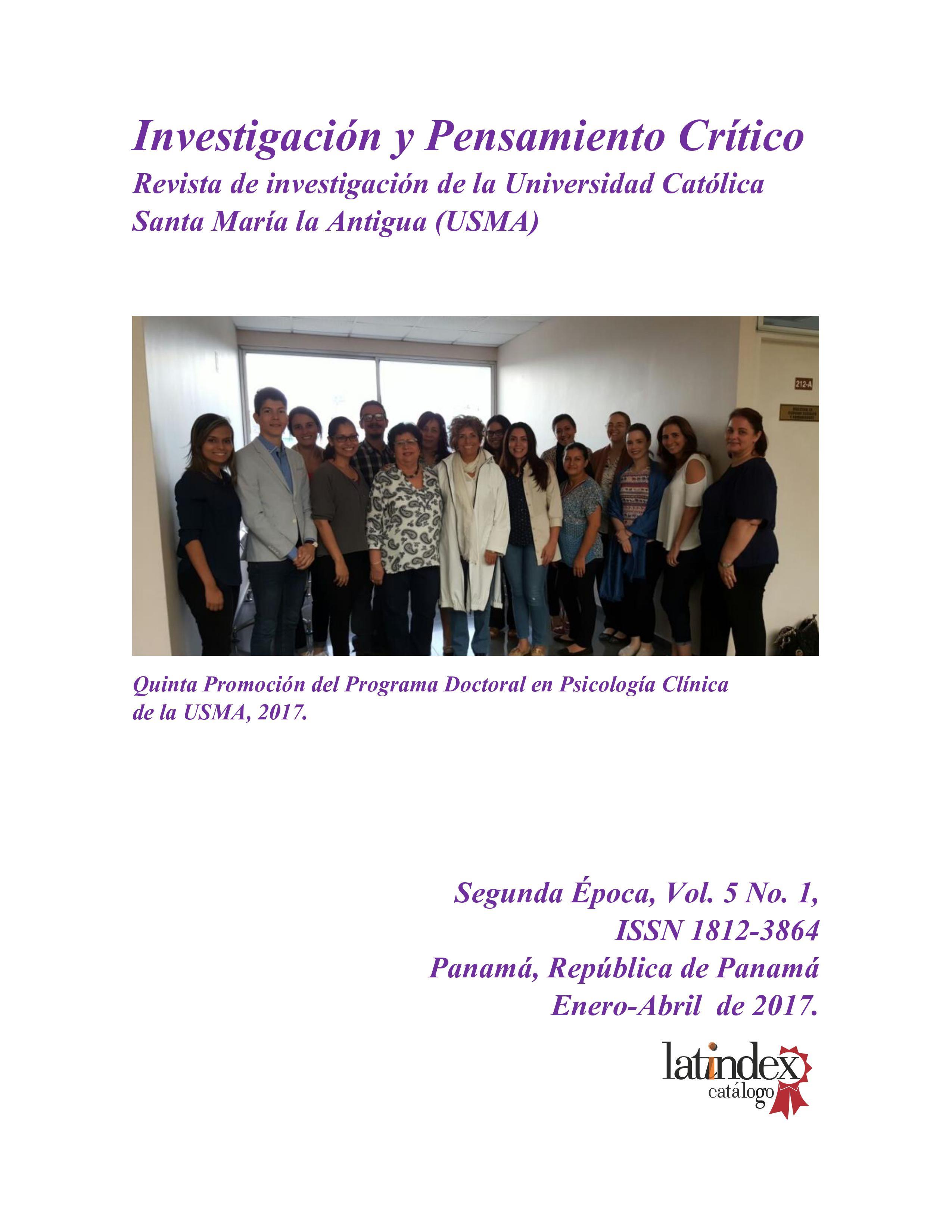 Imagen revista IPC, volumen 5, número 1, año 2017