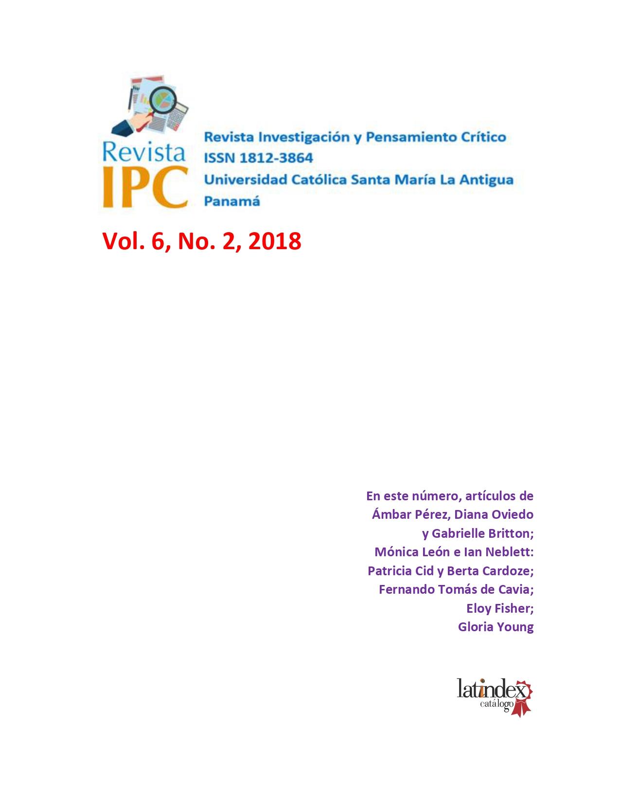 Imagen revista IPC, volumen 6, número 2, año 2018
