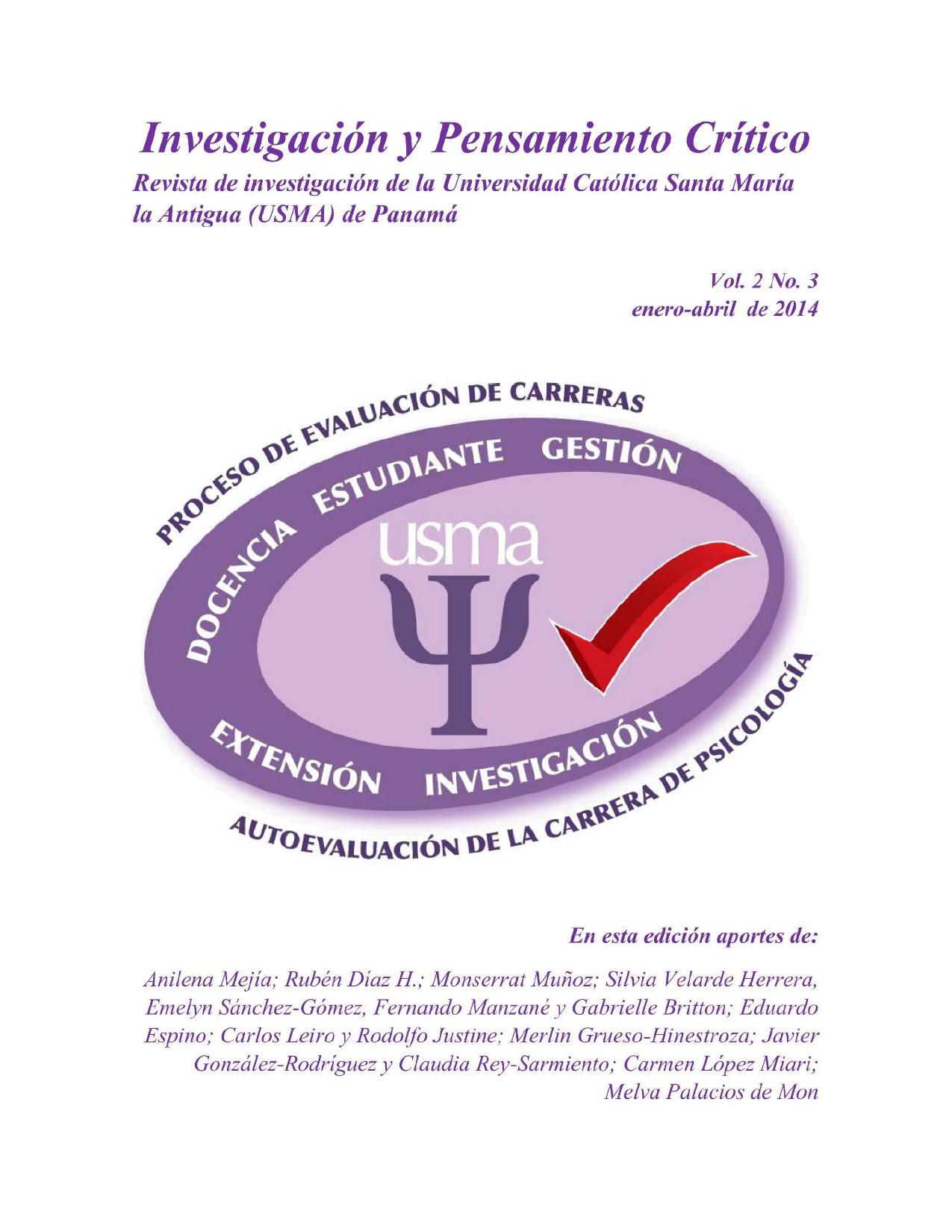 Imagen revista IPC, volumen 2, número 3, año 2014