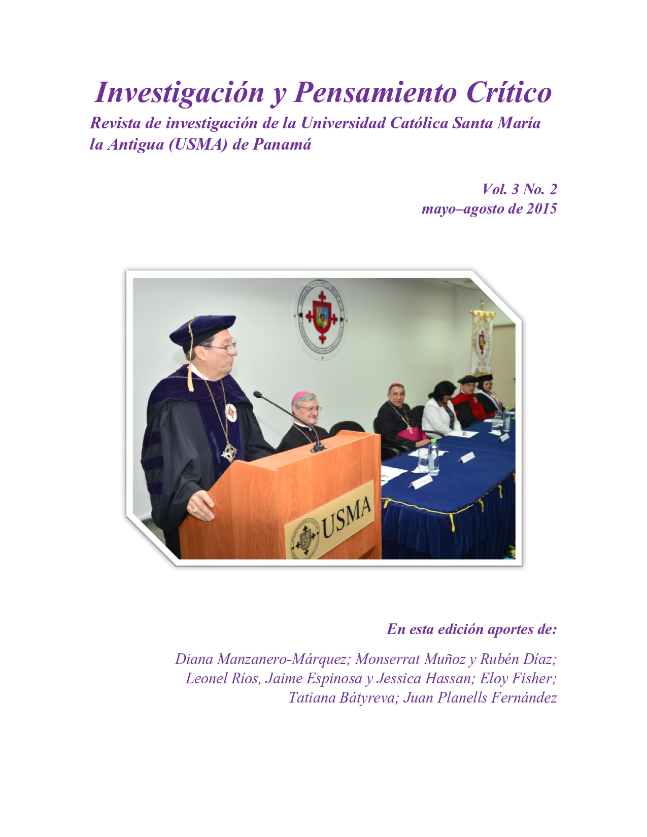 Imagen revista IPC, volumen 3, número 2, año 2015